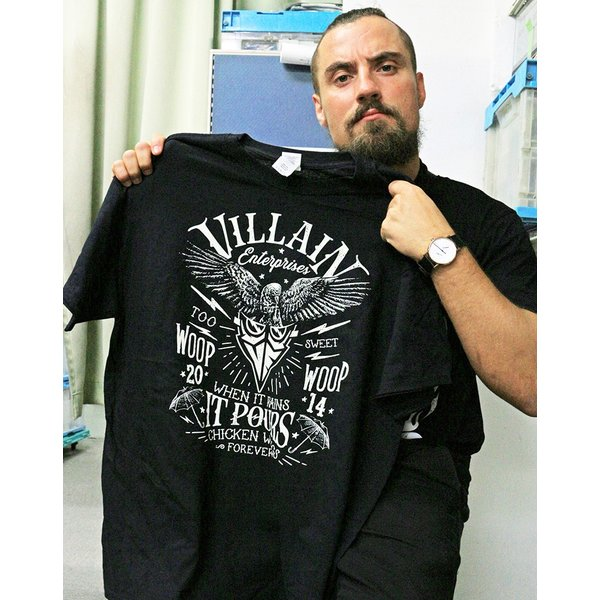 マーティー・スカル Villain Enterprises ブラックTシャツ|bdrop|05