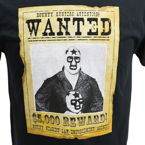Tシャツ XXLサイズ:Legends Masked Superstar Wanted ブラック|bdrop|02
