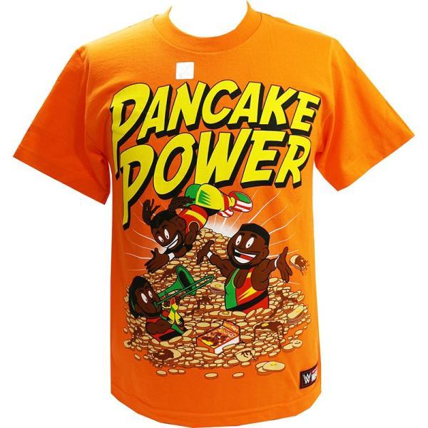 WWE New Day(ニュー・デイ) Pancake Power オレンジTシャツ|bdrop
