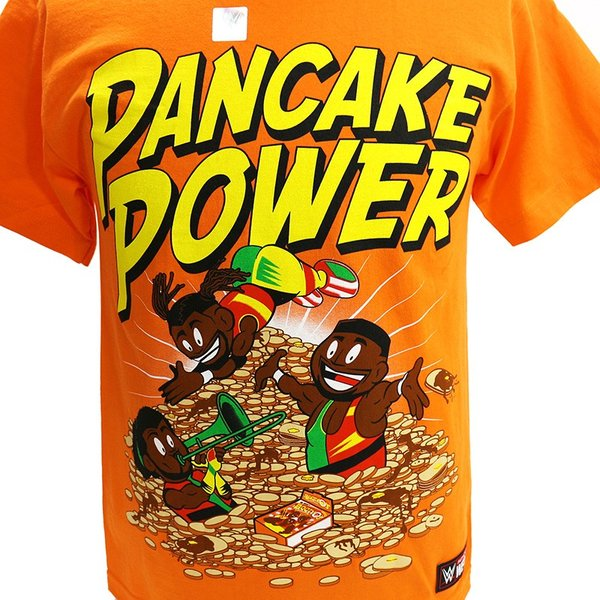 WWE New Day(ニュー・デイ) Pancake Power オレンジTシャツ|bdrop|02