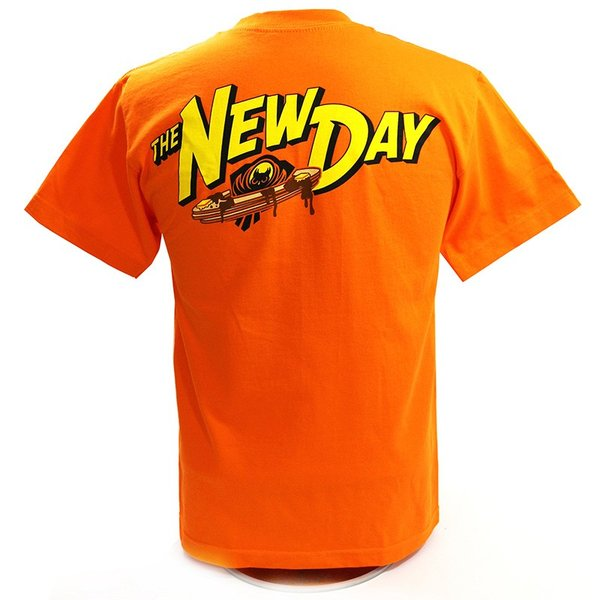 WWE New Day(ニュー・デイ) Pancake Power オレンジTシャツ|bdrop|04