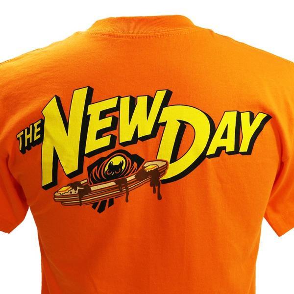 WWE New Day(ニュー・デイ) Pancake Power オレンジTシャツ|bdrop|05