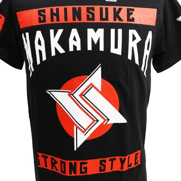 Tシャツ WWE Shinsuke Nakamura (中邑真輔) Main Event ブラック bdrop 02