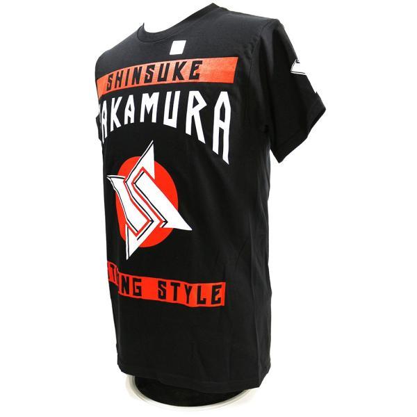 Tシャツ WWE Shinsuke Nakamura (中邑真輔) Main Event ブラック bdrop 03