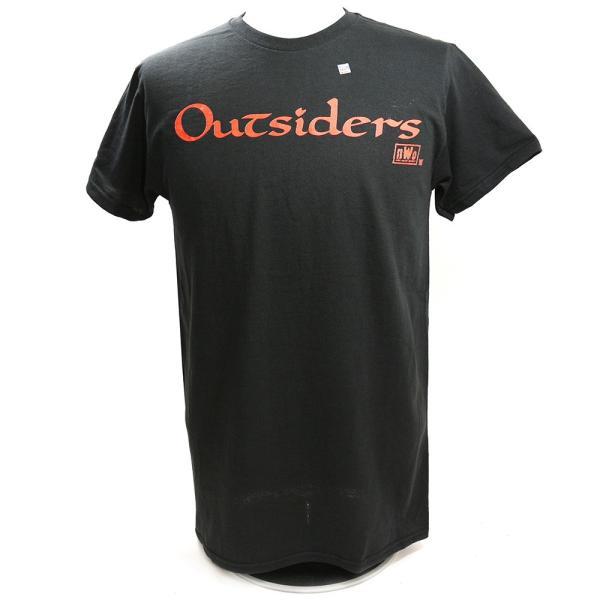 WWE nWo Wolfpac Outsiders Retro ブラックTシャツ bdrop