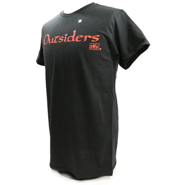 WWE nWo Wolfpac Outsiders Retro ブラックTシャツ bdrop 03