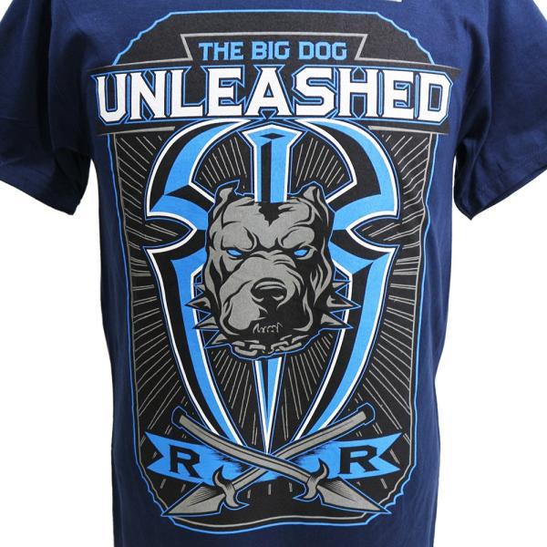 Tシャツ WWE Roman Reigns (ローマン・レインズ) Big Dog Unleashed ネイビー bdrop 02