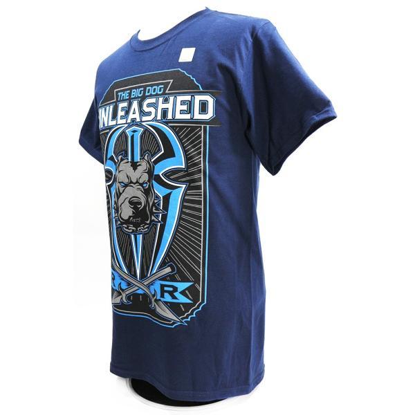 Tシャツ WWE Roman Reigns (ローマン・レインズ) Big Dog Unleashed ネイビー bdrop 03