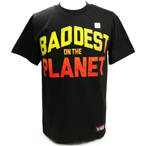 WWE Ronda Rousey(ロンダ・ラウジー) Baddest On The Planet ブラックTシャツ|bdrop