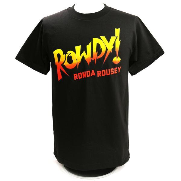 WWE Ronda Rousey(ロンダ・ラウジー) Rowdy Ronda Rousey ブラックTシャツ|bdrop
