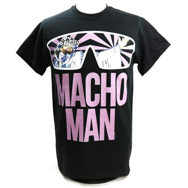 【BD SALE!!! 2,160円Tシャツ】WWE Randy Savage(ランディ・サベージ) Classic Macho Man ブラックTシャツ|bdrop
