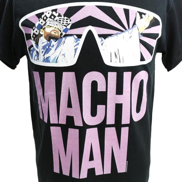 【BD SALE!!! 2,160円Tシャツ】WWE Randy Savage(ランディ・サベージ) Classic Macho Man ブラックTシャツ|bdrop|02