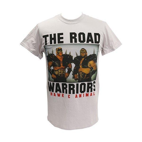 Tシャツ WWE Road Warriors(ロード・ウォリアーズ) Classic ライトグレー|bdrop