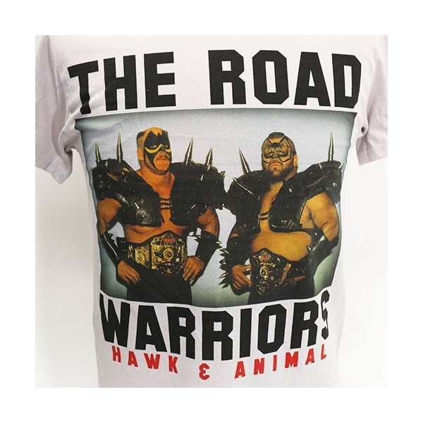 Tシャツ WWE Road Warriors(ロード・ウォリアーズ) Classic ライトグレー|bdrop|02