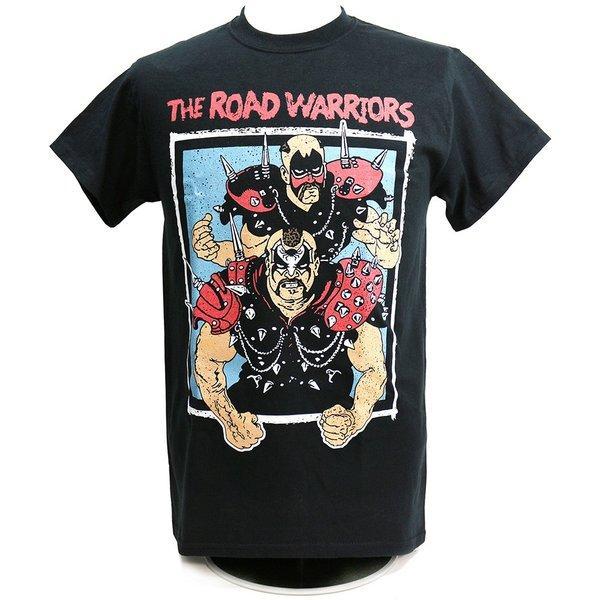 Tシャツ XXLサイズ:WWE Road Warriors(ロード・ウォリアーズ) Championship Wrestling ブラック|bdrop