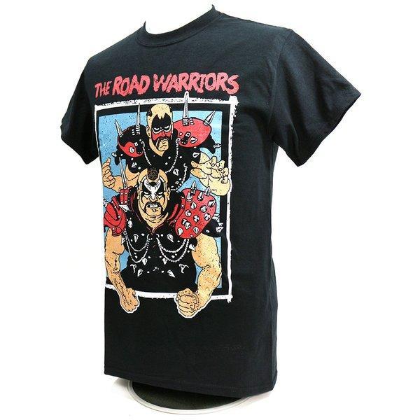 Tシャツ XXLサイズ:WWE Road Warriors(ロード・ウォリアーズ) Championship Wrestling ブラック|bdrop|03