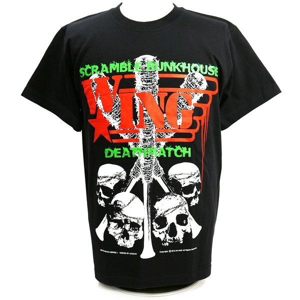 W☆ing Scramble Bunkhouse Deathmatch ブラックTシャツ|bdrop