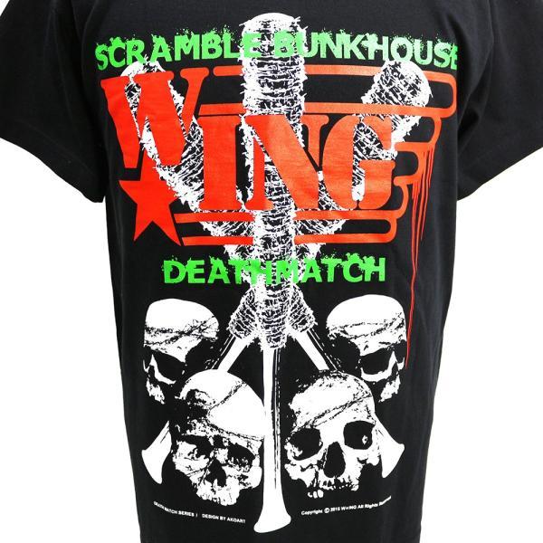 W☆ing Scramble Bunkhouse Deathmatch ブラックTシャツ|bdrop|02