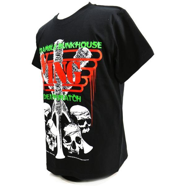 W☆ing Scramble Bunkhouse Deathmatch ブラックTシャツ|bdrop|03