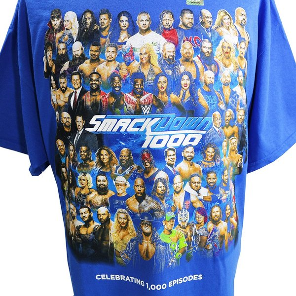 WWE SmackDown 1000 Event ブルーTシャツ|bdrop|02