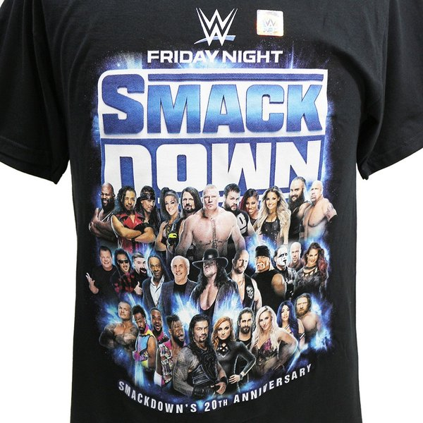 Tシャツ WWE SmackDown 20th Anniversary ブラック|bdrop|02