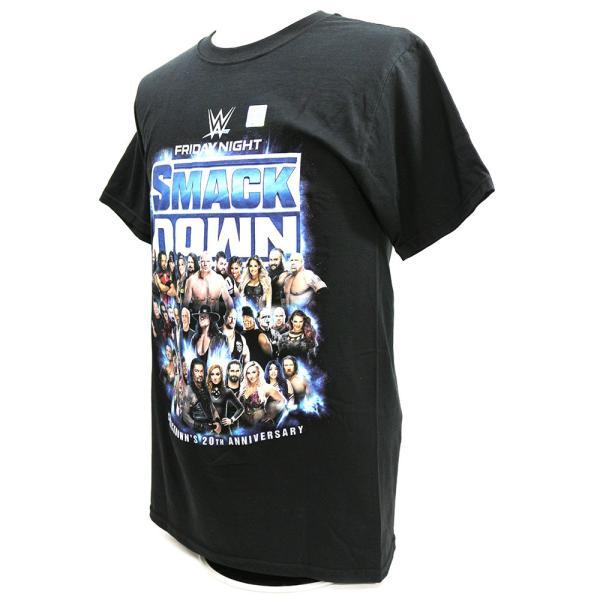Tシャツ WWE SmackDown 20th Anniversary ブラック|bdrop|03