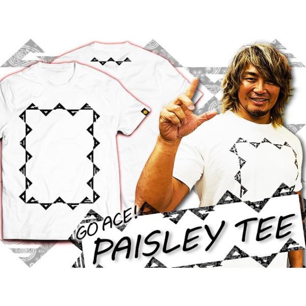 Tシャツ 新日本プロレス NJPW棚橋弘至「GO ACE ペイズリー」(オフホワイト) bdrop 04