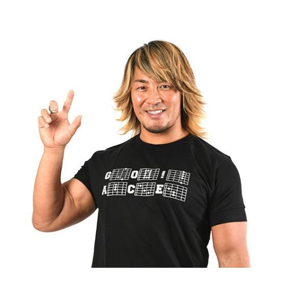 新日本プロレス NJPW 棚橋弘至「ギターコード」Tシャツ|bdrop|03