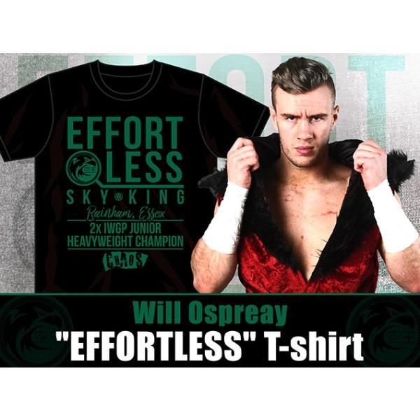 新日本プロレス NJPW ウィル・オスプレイ「EFFORTLESS」Tシャツ bdrop 02