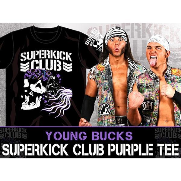 新日本プロレス NJPW ヤング・バックス「SUPERKICK CLUB PURPLE」Tシャツ|bdrop|02