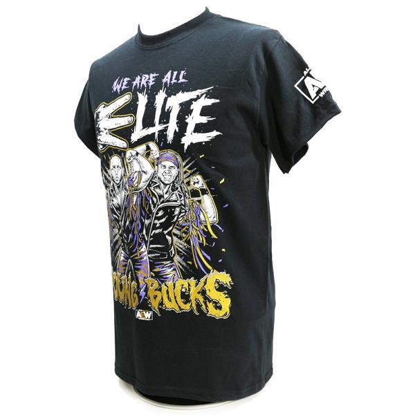 AEW Young Bucks (ヤング・バックス) We Are All Elite ブラックTシャツ|bdrop|03