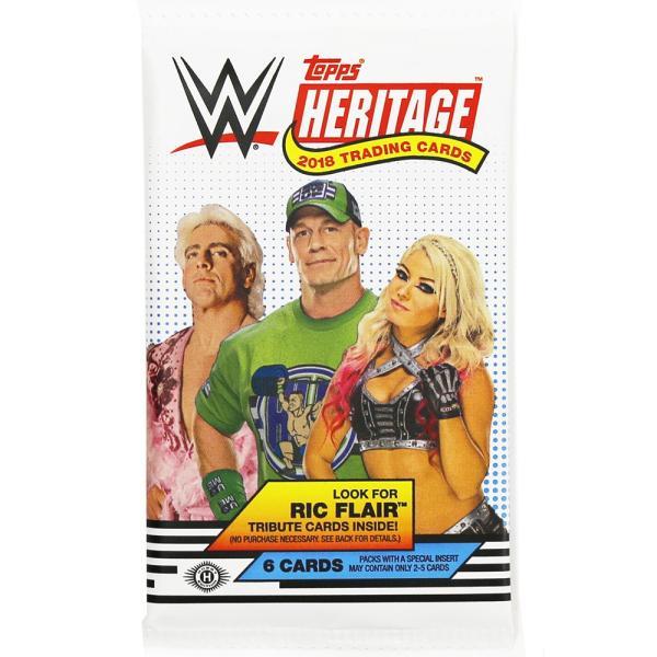 WWE 2018 Topps Heritage Wrestling トレーディングカード 1パック|bdrop