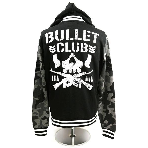 新日本プロレス NJPW Bullet Club(バレット・クラブ) Camo フード付きバーシティジャケット(薄手)|bdrop|06