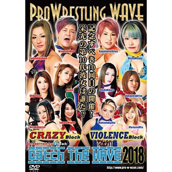 プロレスリングWAVE Catch the WAVE2018 DVD|bdrop