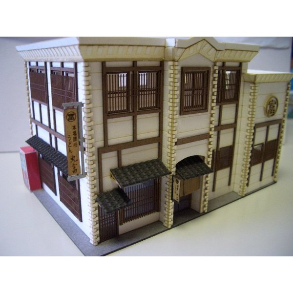 HO用 讃岐うどん店 看板・エアコン室外機・自販機付