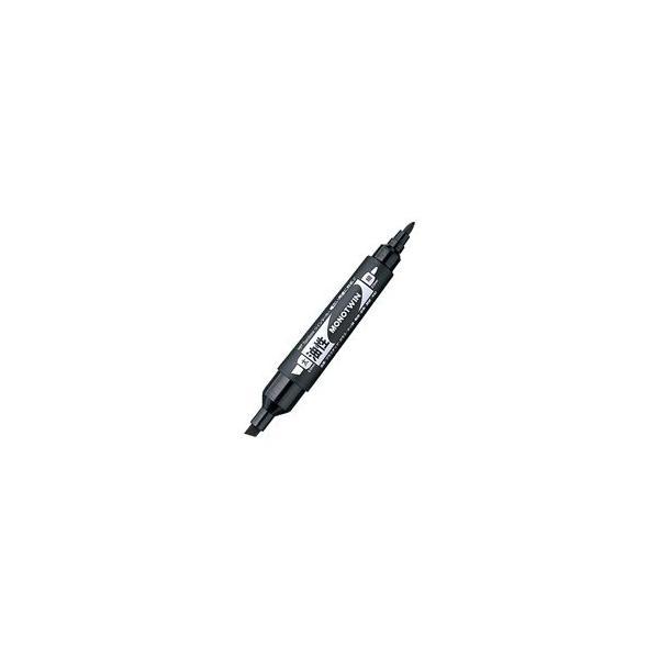 (まとめ)トンボ鉛筆 油性マーカーモノツイン OD-TME33 黒〔×20セット〕