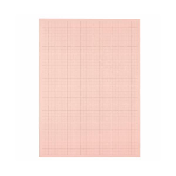 (まとめ) TANOSEE 模造紙(プルタイプ) 本体 788×1085mm 50mm方眼 ピンク 1ケース(20枚) 〔×5セット〕