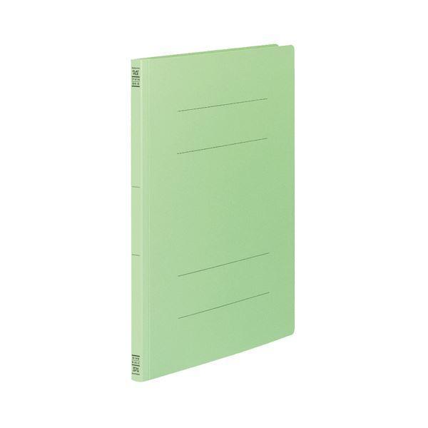 (まとめ) コクヨ フラットファイルV(樹脂製とじ具) B4タテ 150枚収容 背幅18mm 緑 フ-V14G 1パック(10冊) 〔×5セット〕
