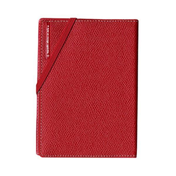 コンサイス スキミングブロック パスポートカバー皮革調R レッド CO-293156 〔3個セット〕