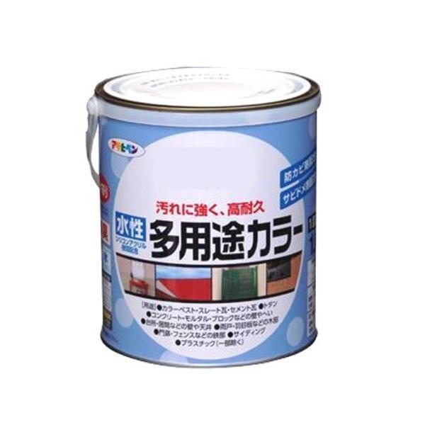 水性多用途カラー ブラウン 1.6L〔代引不可〕