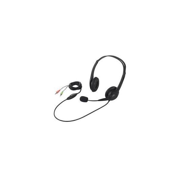ヘッドセット 両耳ヘッドバンド式 半密閉タイプ ノイズ低減 ブラック