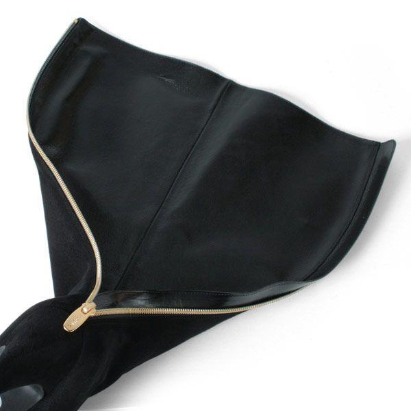コメックス ロングブーツ プラットフォーム ハイヒール ポインテッドトゥ ブーツ ブラックスエード 5548