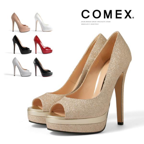 COMEX パンプス プラットフォーム 14cmヒール エナメル ハイヒール 5503 be-milano