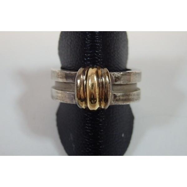 ティファニー TIFFANY&Co. ワイド リング 指輪 925 750 シルバー ゴールド コンビ 10号 ジュエリー アクセサリー T&Co. 【中古】 ba1012