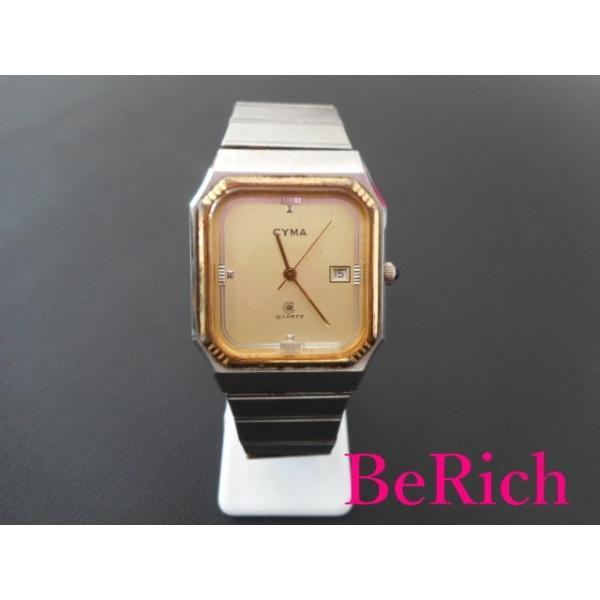 CYMA シーマ レディース腕時計 シルバー×黄 クォーツ SS 【中古】 ht978