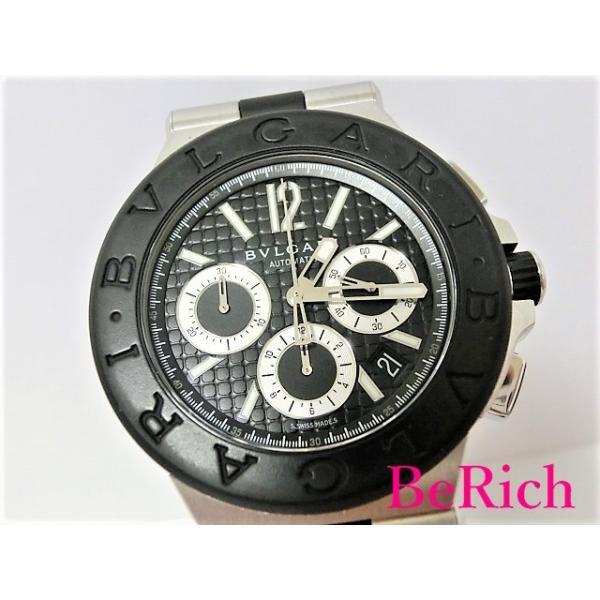 0dc6cf12a810 クロノグラフ カリブロ303 ブルガリ メンズ 世界限定500本 アリゲーターレザー BVLGARI 腕時計 ディアゴノ DG42C3SLDCH_8