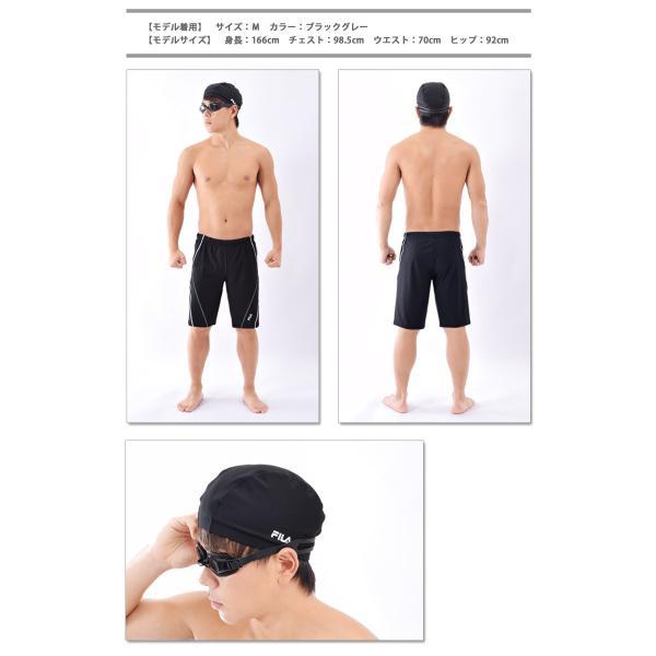 メンズ フィットネス水着 セット 水着 FILAフィラ 水泳帽 ゴーグル 3点セット スイムボトム スイムウェア ゆうパケット送料無料 M/L/LL/3L/4L/5L 438901set[set] beach-angel 05