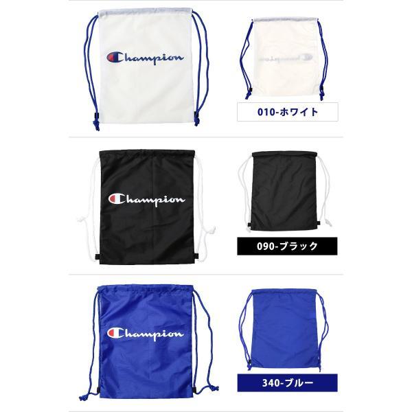 Champion チャンピオン ナップサック デイパック ロゴ柄 ナップザック スポーツバッグ リュックサック A4対応 F C3-PB716B ゆうパケット発送|beach-angel|05