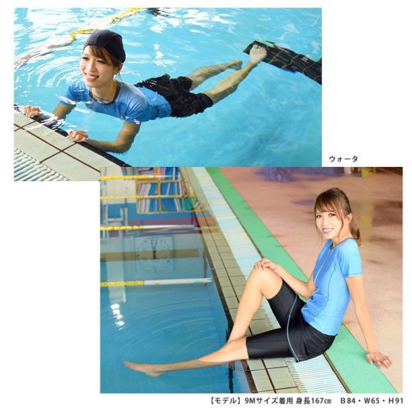 フィットネス 水着 レディース スカート セット セパレート 半袖 大きいサイズ 体型カバー KIREI BEACH KB113 5S〜21LL 送料無料|beach-angel|06