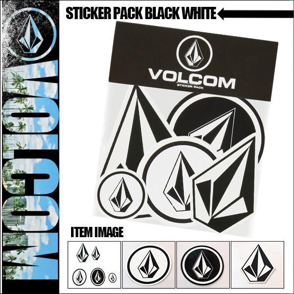 ボルコム ステッカー STICKER PACK BLACK WHITE VOLCOM D6711499